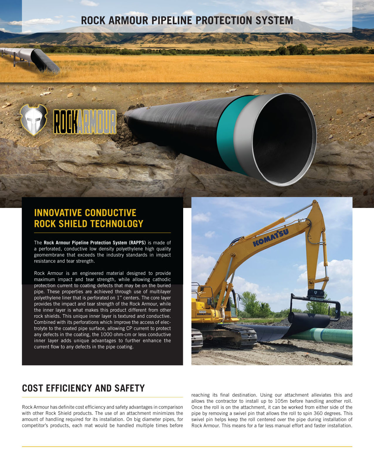 Rock Armour Rock Shield Pipeline Protection System FC Liners